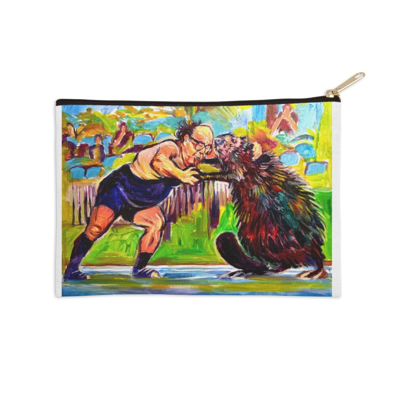 greco-roman Accessories Zip Pouch by paintings by Seamus Wray