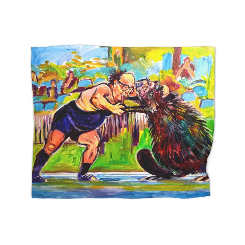greco-roman Home Fleece Blanket Blanket by paintings by Seamus Wray