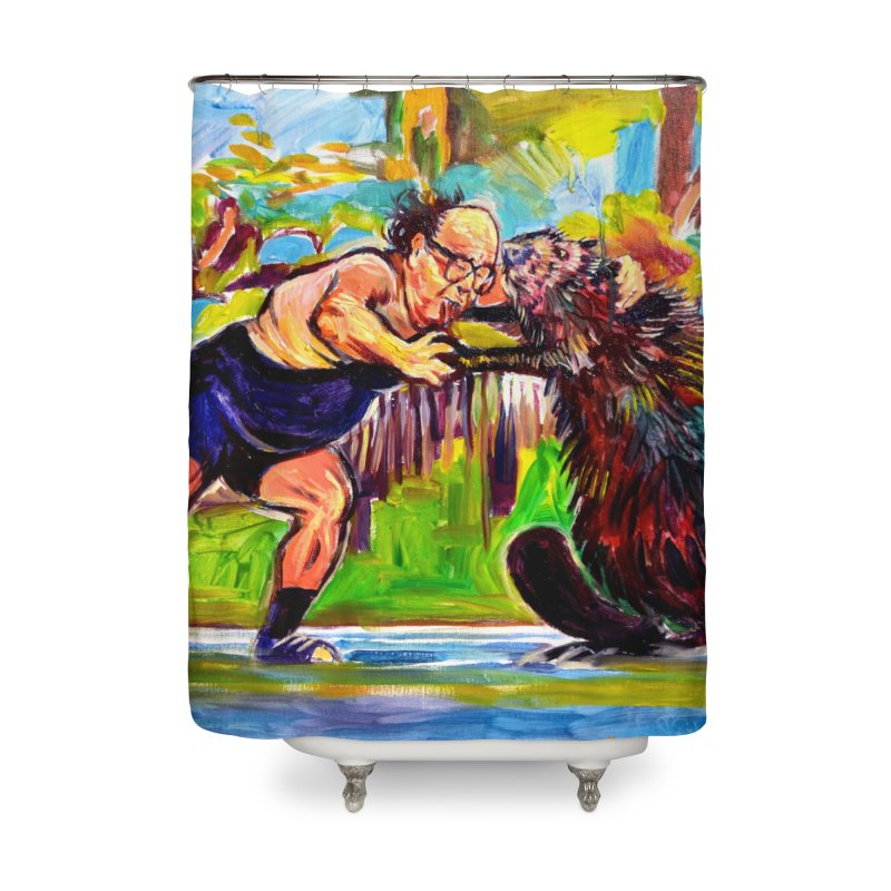 greco-roman Home Shower Curtain by paintings by Seamus Wray