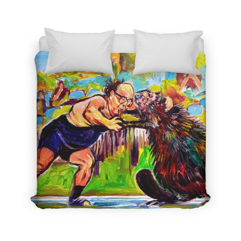 greco-roman Home Duvet by paintings by Seamus Wray