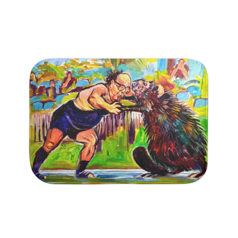 greco-roman Home Bath Mat by paintings by Seamus Wray