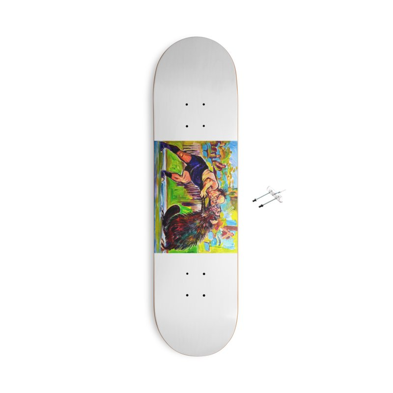 greco-roman Accessories With Hanging Hardware Skateboard by paintings by Seamus Wray