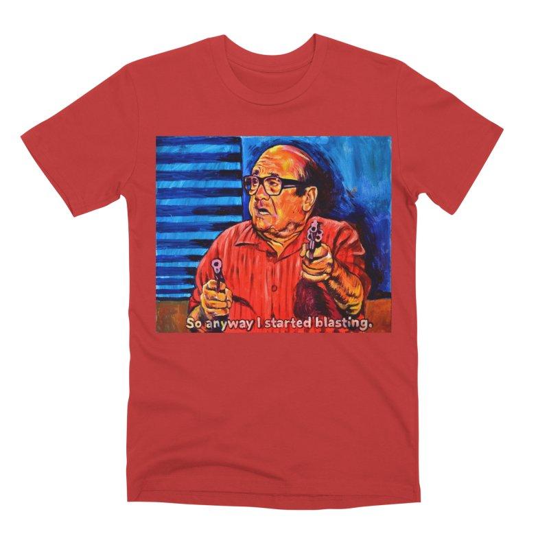 blasting Men's Premium T-Shirt by paintings by Seamus Wray