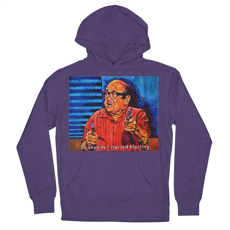 blasting Men's French Terry Pullover Hoody by paintings by Seamus Wray
