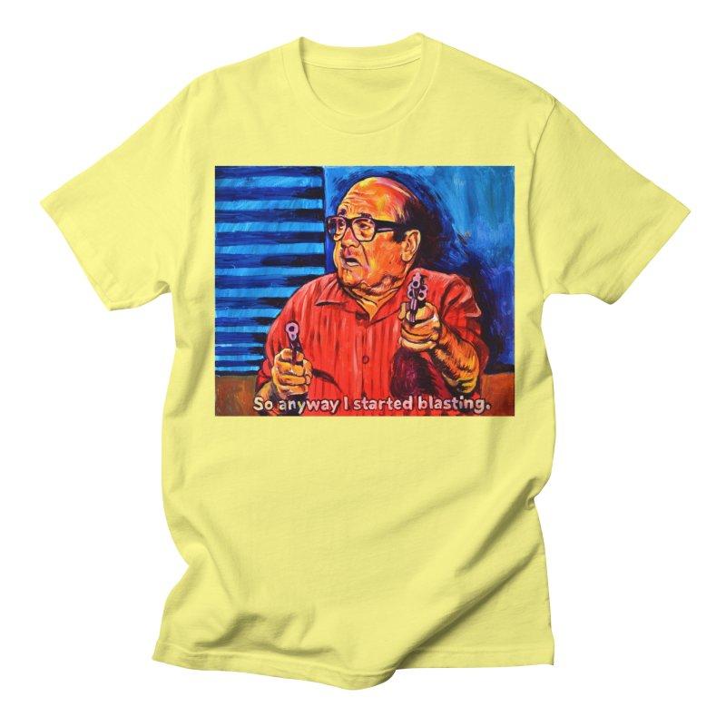 blasting Men's Regular T-Shirt by paintings by Seamus Wray