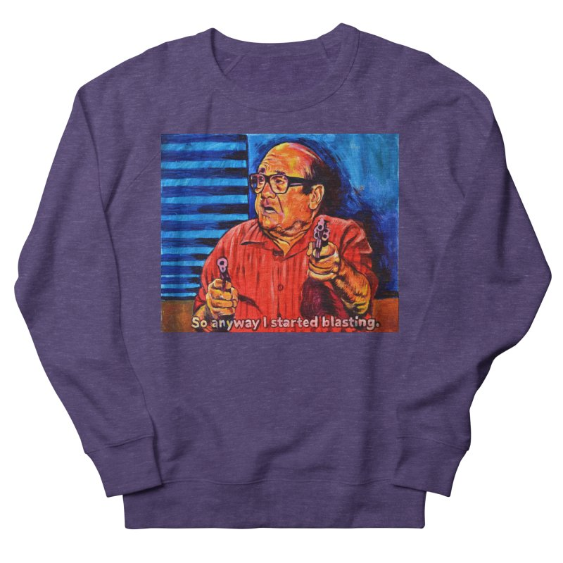 blasting Men's French Terry Sweatshirt by paintings by Seamus Wray