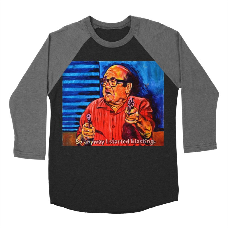 blasting Men's Baseball Triblend Longsleeve T-Shirt by paintings by Seamus Wray