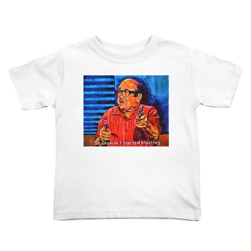 blasting Kids Toddler T-Shirt by paintings by Seamus Wray