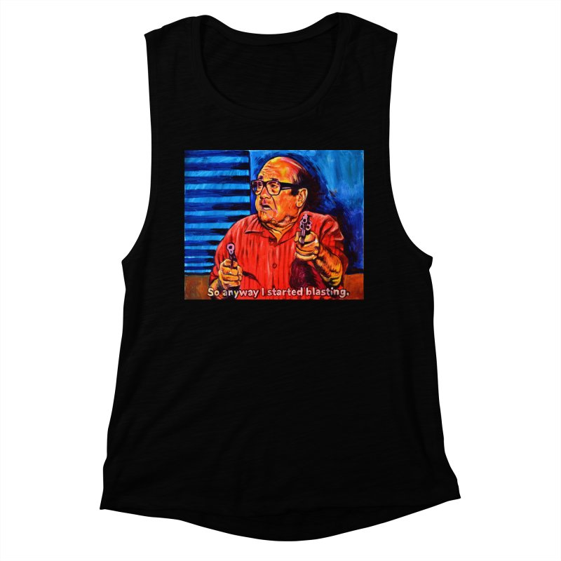blasting Women's Muscle Tank by paintings by Seamus Wray