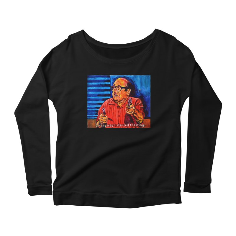 blasting Women's Scoop Neck Longsleeve T-Shirt by paintings by Seamus Wray