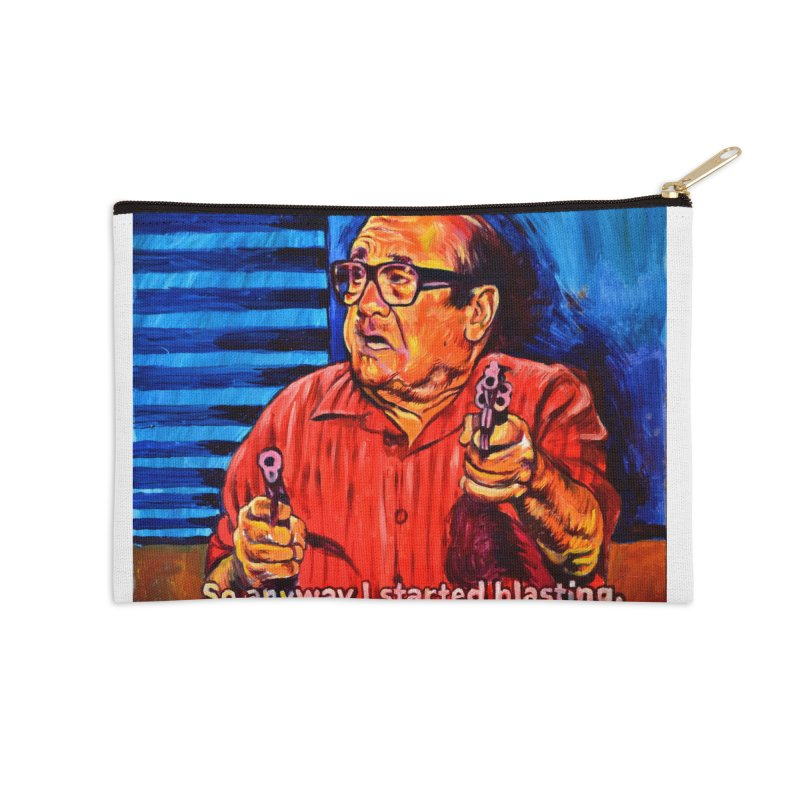 blasting Accessories Zip Pouch by paintings by Seamus Wray