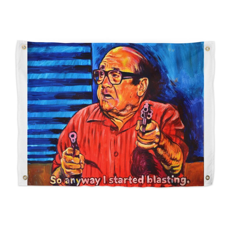 blasting Home Tapestry by paintings by Seamus Wray
