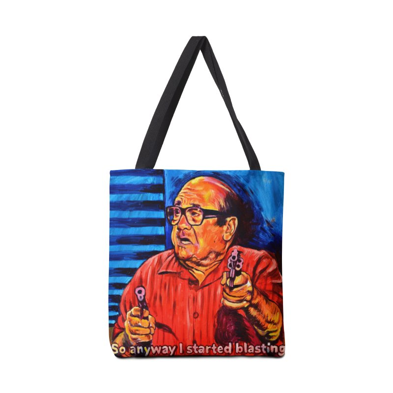 blasting Accessories Tote Bag Bag by paintings by Seamus Wray