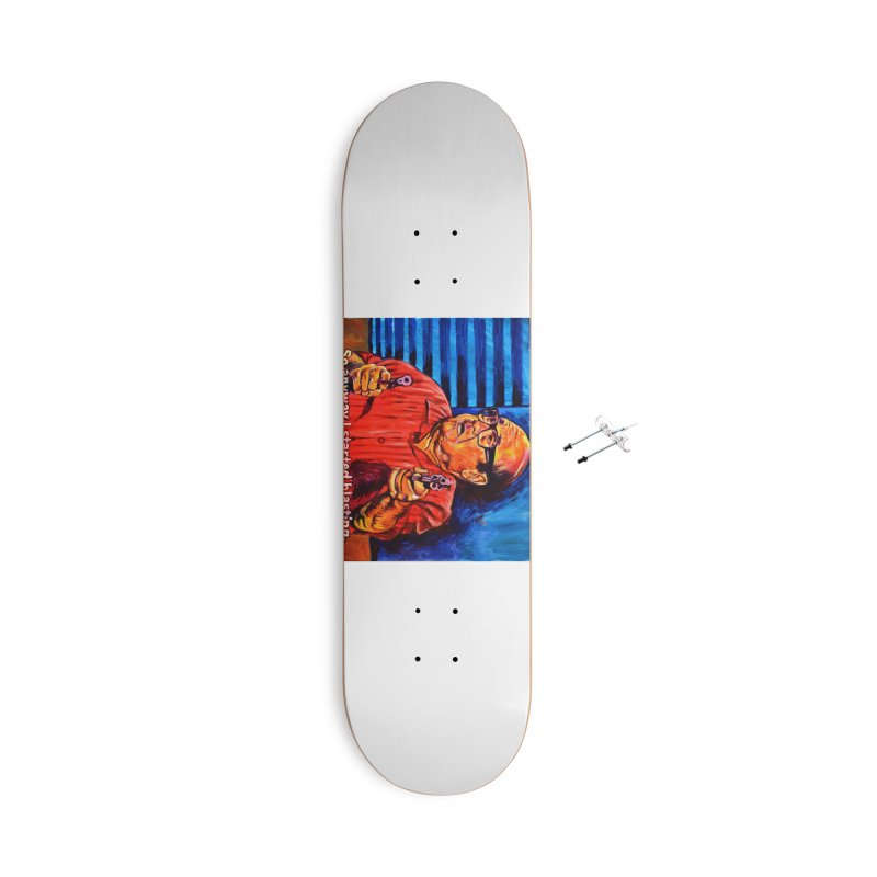 blasting Accessories With Hanging Hardware Skateboard by paintings by Seamus Wray
