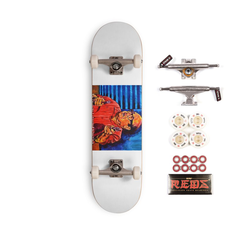blasting Accessories Complete - Pro Skateboard by paintings by Seamus Wray