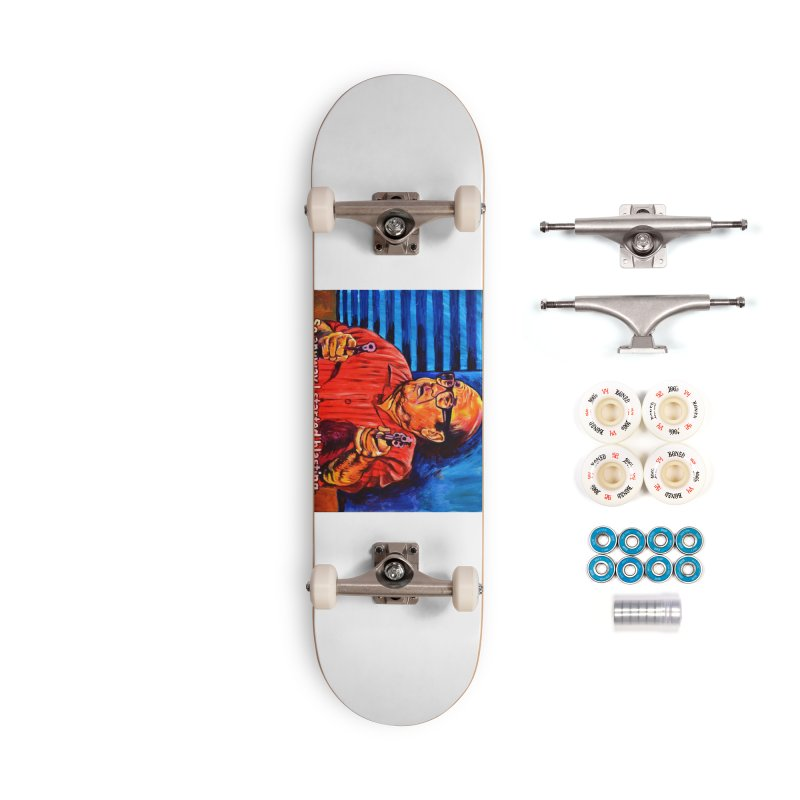 blasting Accessories Complete - Premium Skateboard by paintings by Seamus Wray