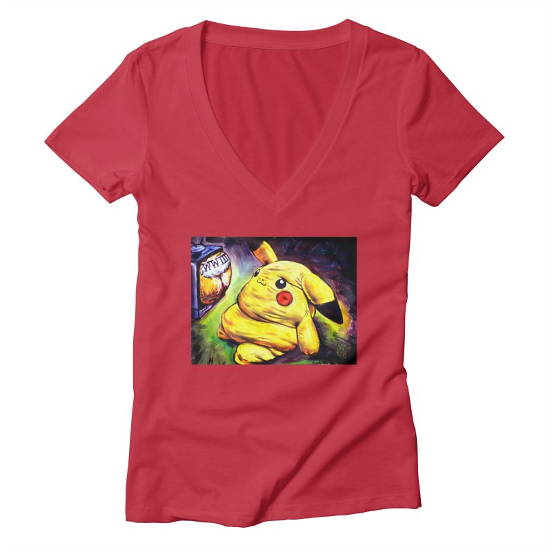 WWIII Women's Deep V-Neck V-Neck by paintings by Seamus Wray