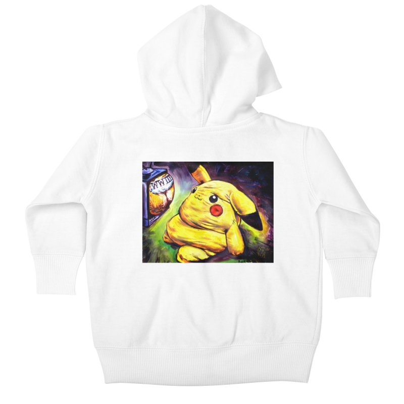 WWIII Kids Baby Zip-Up Hoody by paintings by Seamus Wray