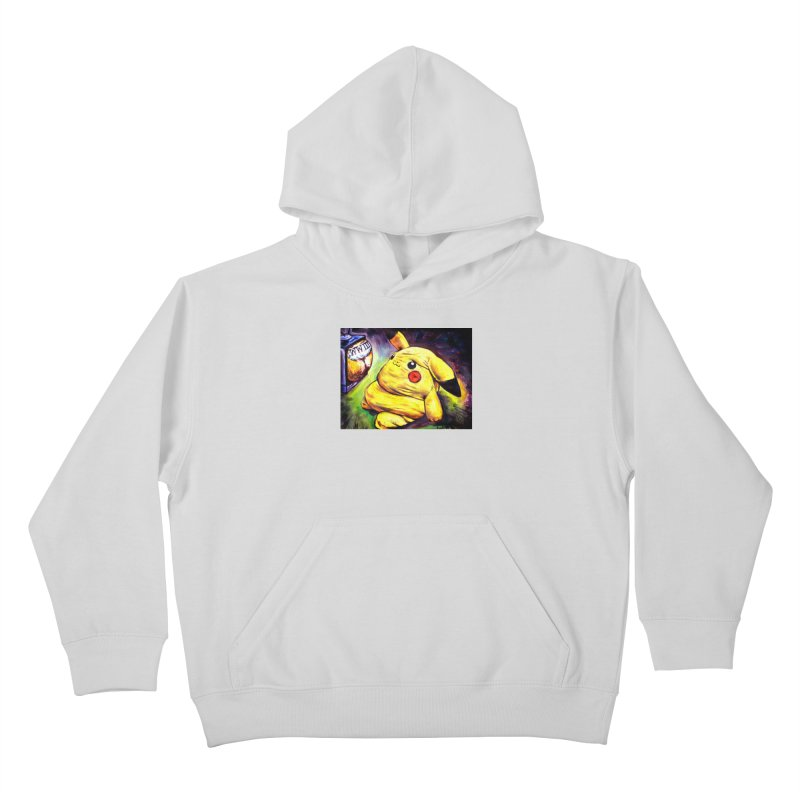 WWIII Kids Pullover Hoody by paintings by Seamus Wray
