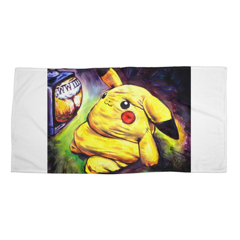 WWIII Accessories Beach Towel by paintings by Seamus Wray
