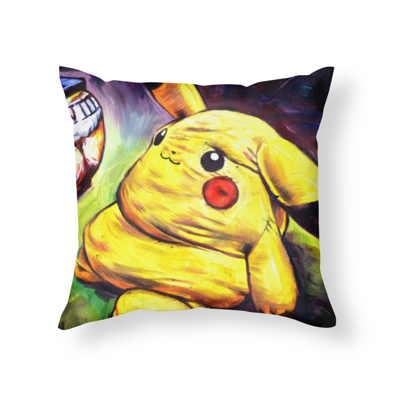 WWIII Home Throw Pillow by paintings by Seamus Wray