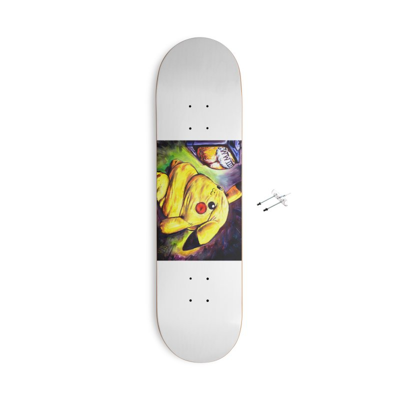 WWIII Accessories With Hanging Hardware Skateboard by paintings by Seamus Wray