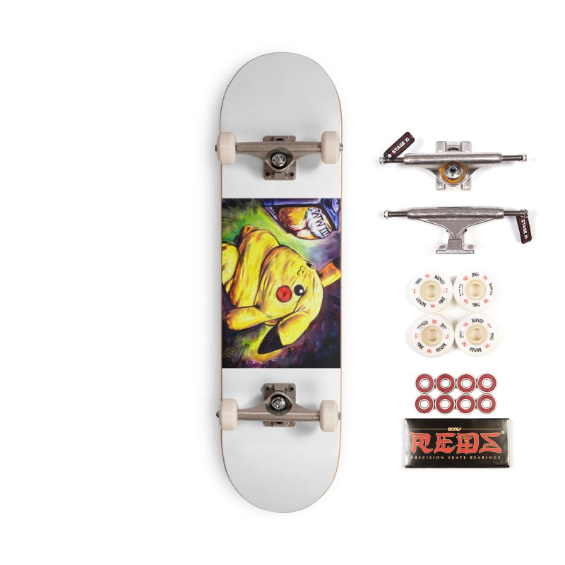 WWIII Accessories Complete - Pro Skateboard by paintings by Seamus Wray