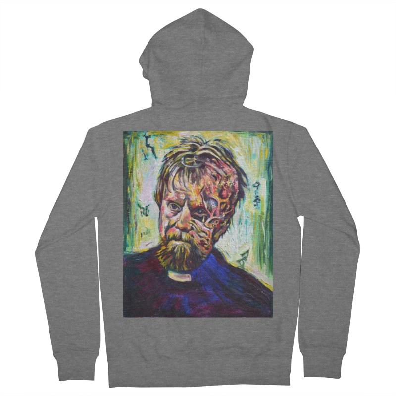 father mara Women's French Terry Zip-Up Hoody by paintings by Seamus Wray