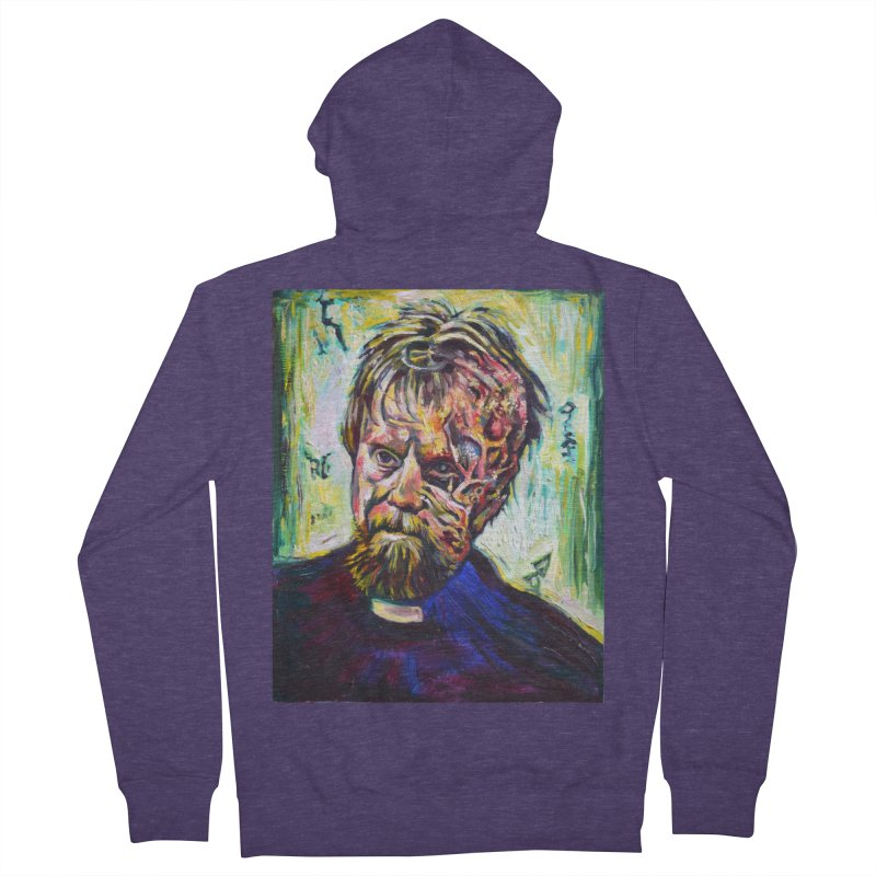 father mara Men's French Terry Zip-Up Hoody by paintings by Seamus Wray