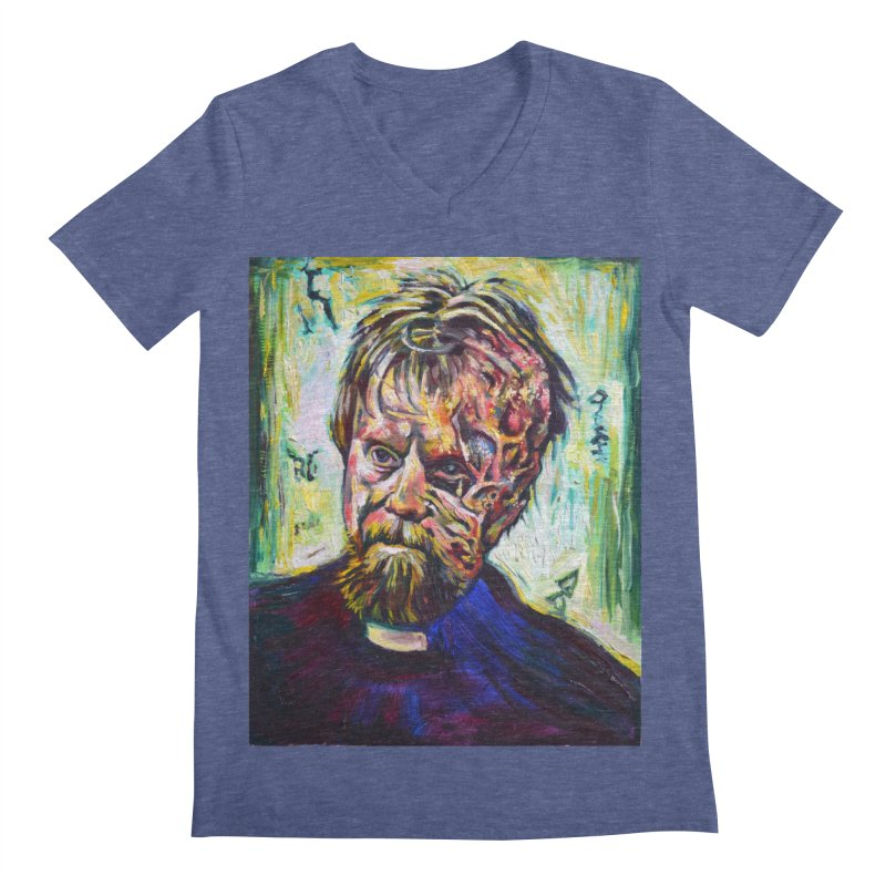 father mara Men's Regular V-Neck by paintings by Seamus Wray
