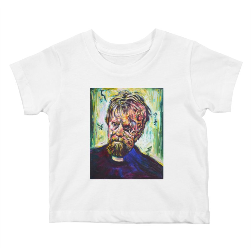 father mara Kids Baby T-Shirt by paintings by Seamus Wray