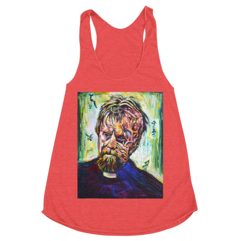 father mara Women's Racerback Triblend Tank by paintings by Seamus Wray
