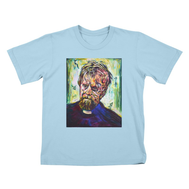 father mara Kids T-Shirt by paintings by Seamus Wray