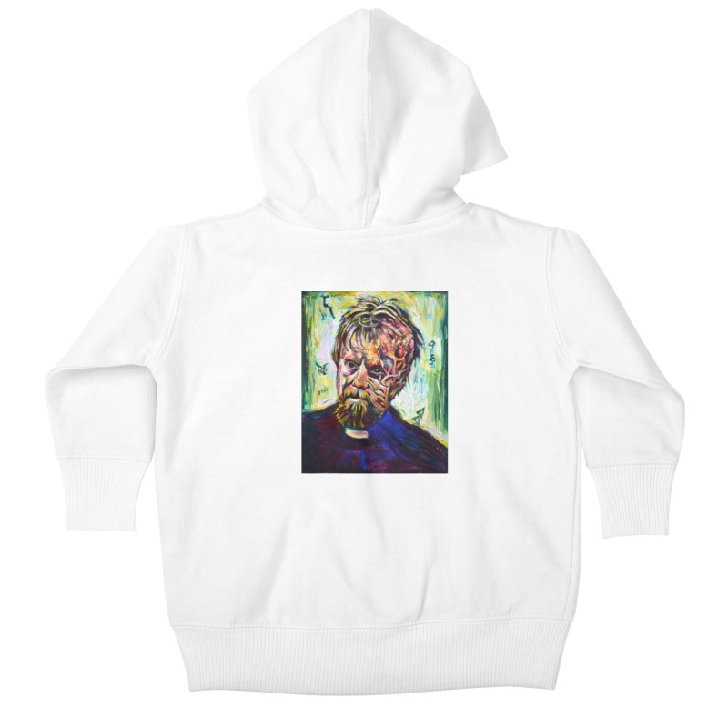 father mara Kids Baby Zip-Up Hoody by paintings by Seamus Wray