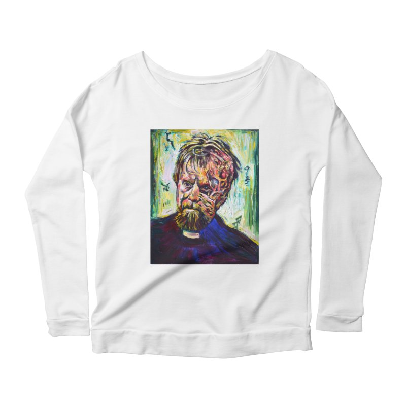 father mara Women's Scoop Neck Longsleeve T-Shirt by paintings by Seamus Wray