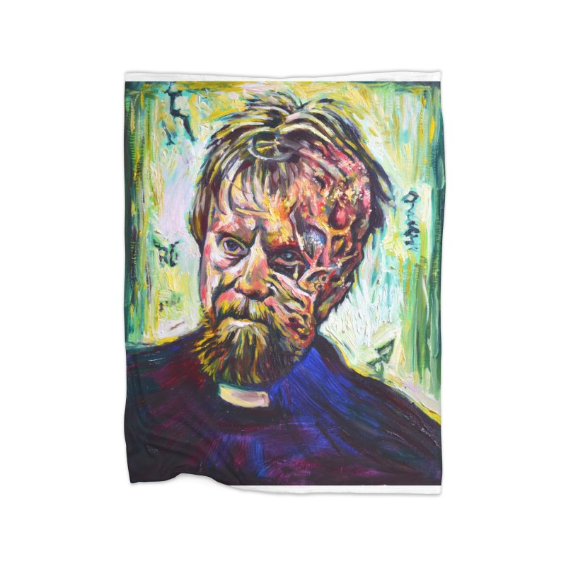 father mara Home Fleece Blanket Blanket by paintings by Seamus Wray