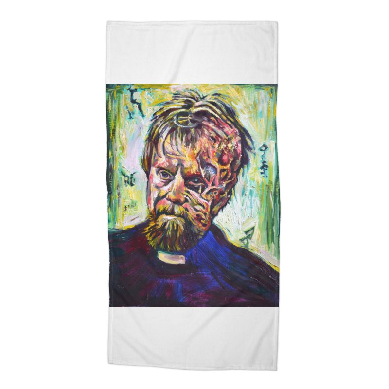 father mara Accessories Beach Towel by paintings by Seamus Wray