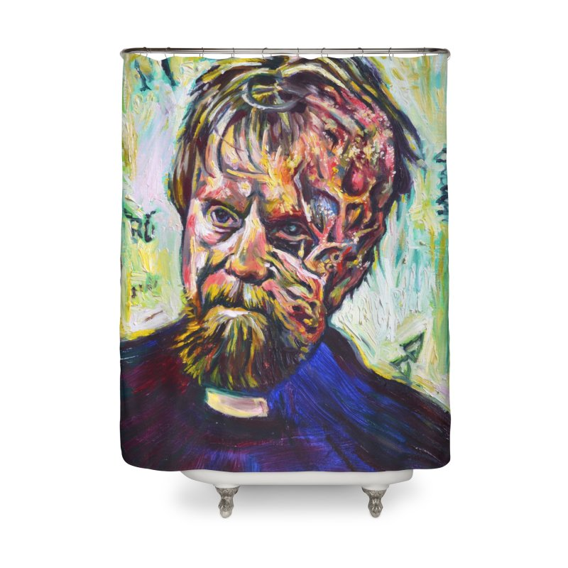 father mara Home Shower Curtain by paintings by Seamus Wray