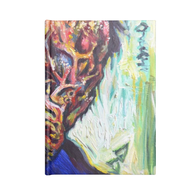 father mara Accessories Lined Journal Notebook by paintings by Seamus Wray