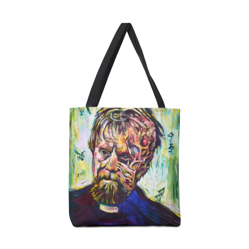 father mara Accessories Tote Bag Bag by paintings by Seamus Wray