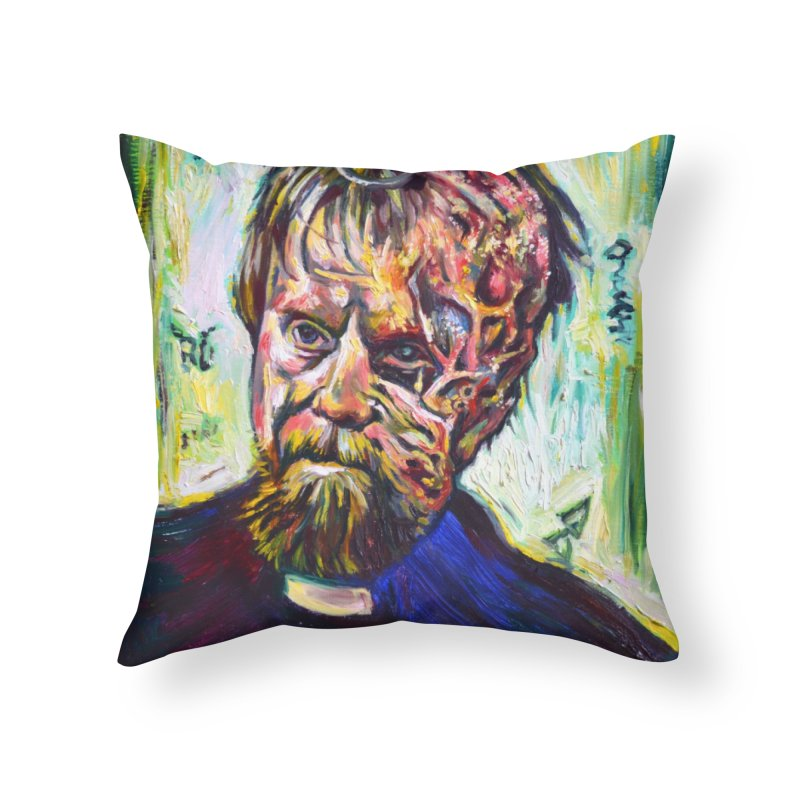 father mara Home Throw Pillow by paintings by Seamus Wray