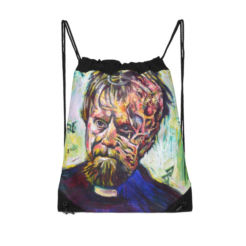 father mara Accessories Drawstring Bag Bag by paintings by Seamus Wray