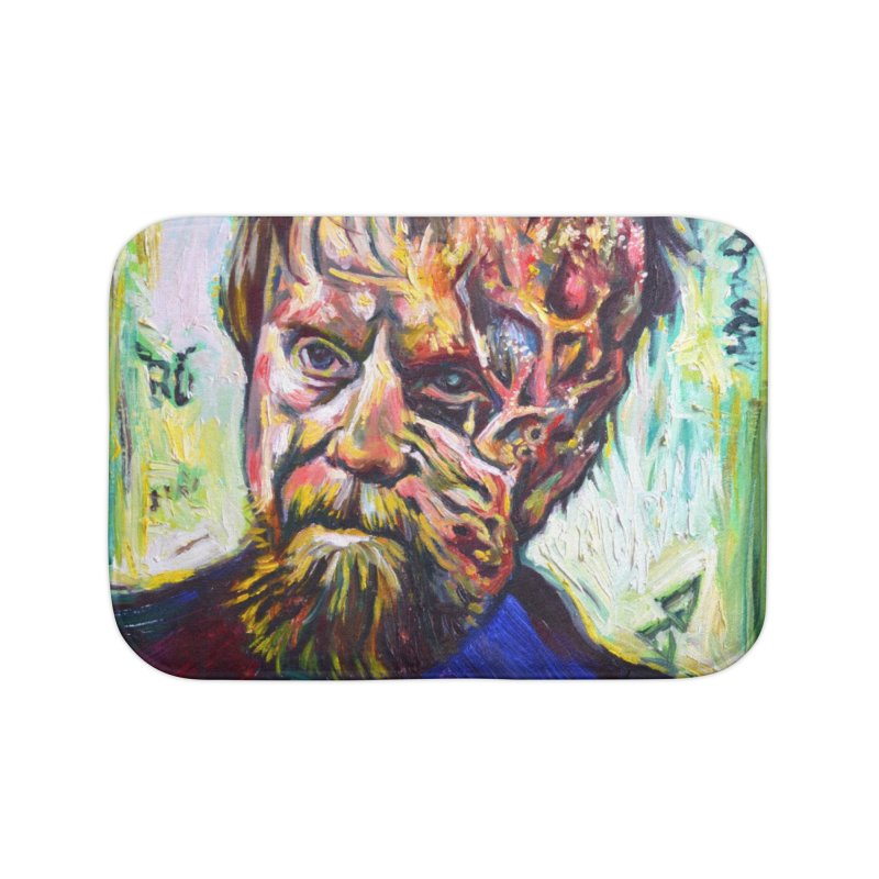 father mara Home Bath Mat by paintings by Seamus Wray