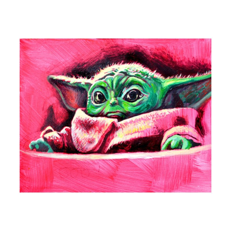 baby yoda by paintings by Seamus Wray