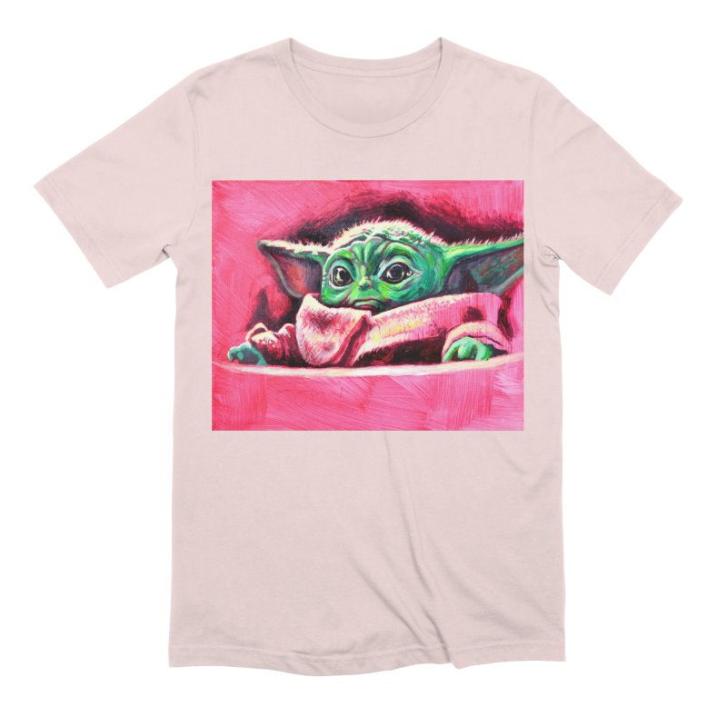 baby yoda Men's Extra Soft T-Shirt by paintings by Seamus Wray
