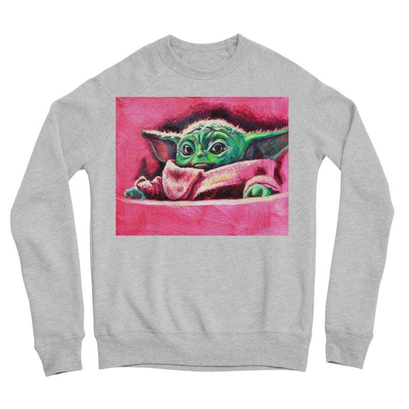 baby yoda Women's Sponge Fleece Sweatshirt by paintings by Seamus Wray