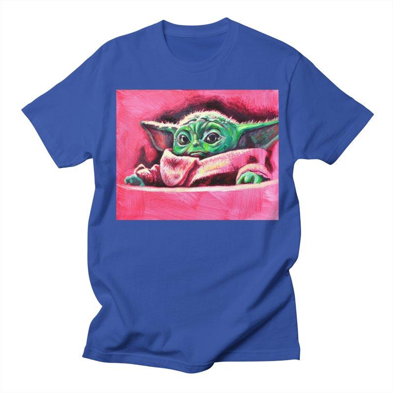 baby yoda Men's Regular T-Shirt by paintings by Seamus Wray
