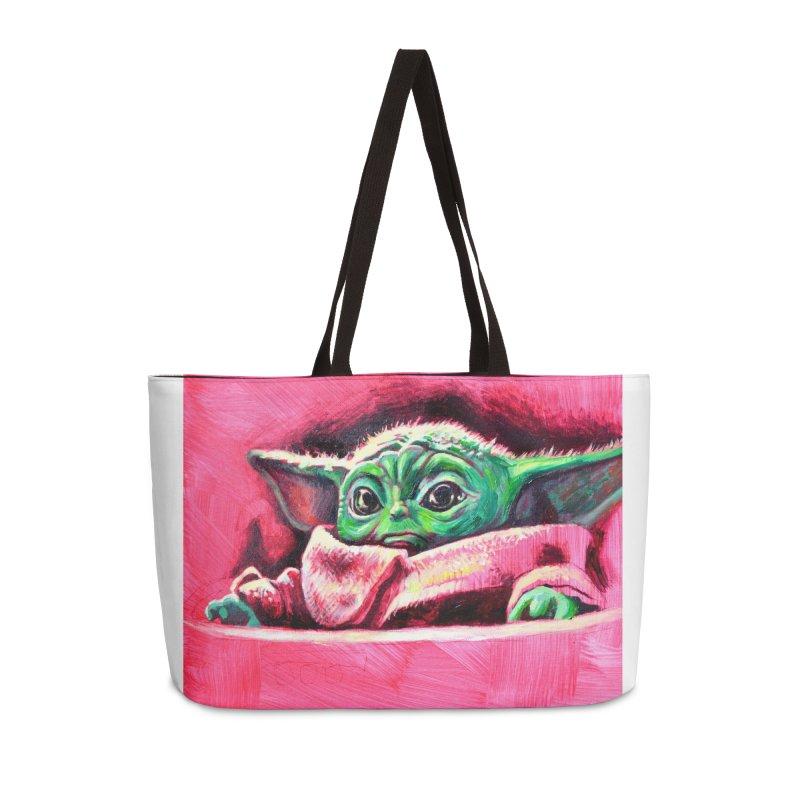 baby yoda Accessories Weekender Bag Bag by paintings by Seamus Wray