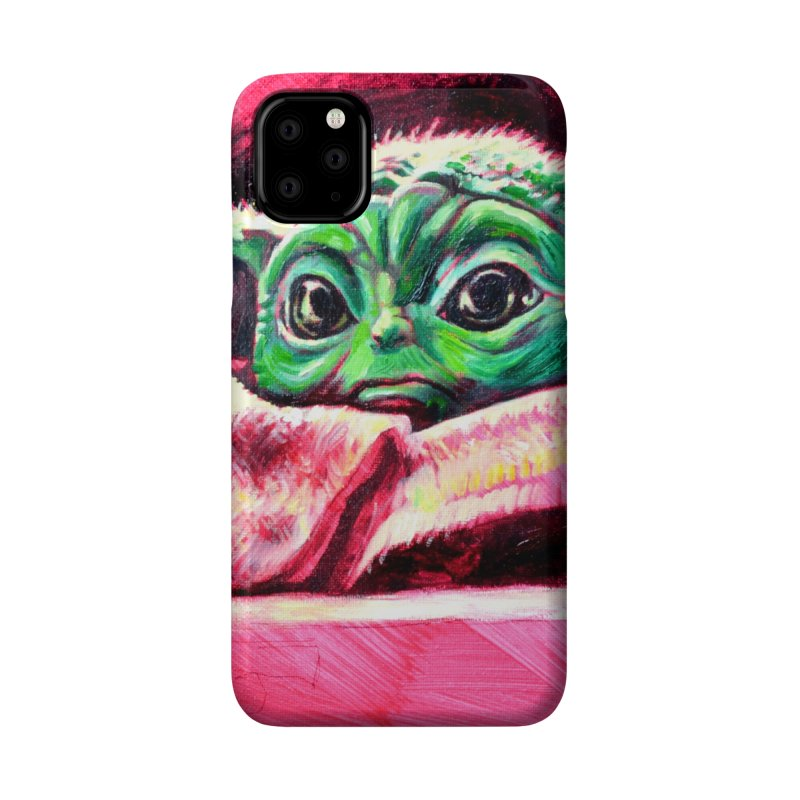 baby yoda Accessories Phone Case by paintings by Seamus Wray