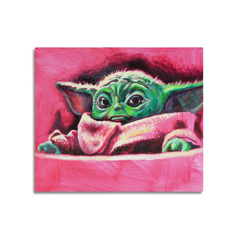 baby yoda Home Mounted Acrylic Print by paintings by Seamus Wray